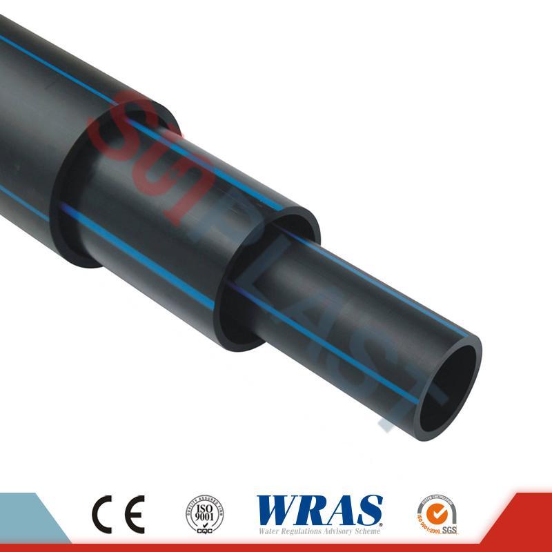 HDPE hodiak (poli karea) ur-horniketaren kolore beltz / urdinean